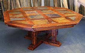 1960s dining table rustic dining table in barnwood and stone tile custom by stephen