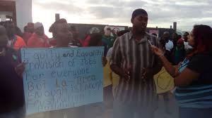 la brea residents shut down construction site to protest jobs in their quest to employment at the construction of the 6 3 billion caribbean gas chemical limited cgcl petrochemical complex in la brea