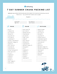 7 Day Cruise Packing List 7 Day Summer Cruise Packing List Weve Got Everything