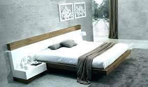 modern platform bed. Walnut Platform Bed Frame Floating Modern