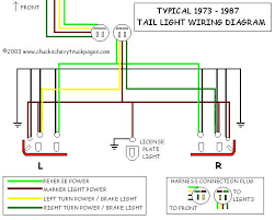 headlight and tail light wiring schematic diagram typical 1973 Chevy 3500 Wiring Diagram For Tail Lights [tail light wiring diagram schematic] Chevy Tail Light Wiring Colors