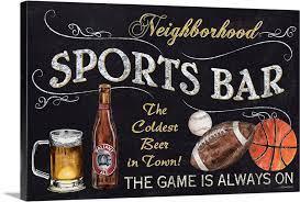 sports bar wall art canvas prints