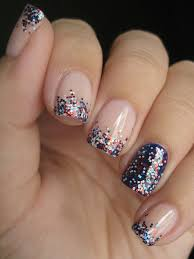 glitter memorial day summer nail art ideas