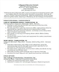 Lifeguard Resume Pdf Cover Letter Pool Sample Cook For Electrician