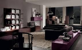 livingroom living room purple design and grey black white decor