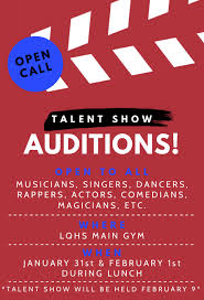 Lqhs To Hold Auditions For Talent Show Hawkview