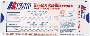 Mikuni Carburetor Jet Pocket Tuner Sliding Calculator Mk 550 Tnr