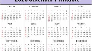 Calendar Template Online Free 12 Month Calendar One Page Template Printable Online