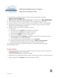 Free Allonge Mortgage Note Sample Templates At