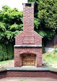 garden fireplace design custom decor outdoor x brick diy plans outd