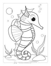Fun video with coloring of sea animals. Animal Coloring Pages