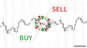 Free Buy Sell Signal Chart Stock Market Chart With Graphic Elements Vector Illustration