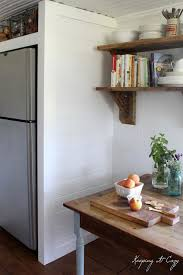 diy kitchen furniture. Keeping It Cozy Kitchen Update Building A Refrigerator Cabinet For The Extra Fridge Diy Furniture R