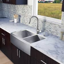 vigo 33 inch farmhouse stainless steel kitchen sink beautiful vigo all in e 33 chisholm