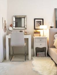 vanity table for small space. vanity inspiration for a small space. egyptian cotton status pint photo details - from these table space m