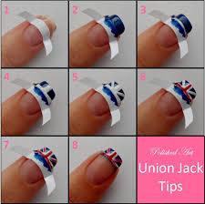 England Flag Nail Designs Union Jack Nail Tips Super Cute Especially Since I Love