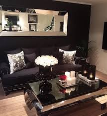 Living Room Elegant Black Livingroom Decor With Classic Style