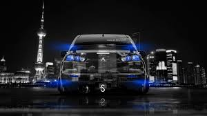 mitsubishi lancer evolution x back crystal city car