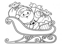 Small Picture Christmas Coloring Pages Santa Sleigh Coloring Coloring Pages