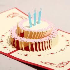3d Diy Handmade Birthday Greeting Card Birthday Cake Paper Art