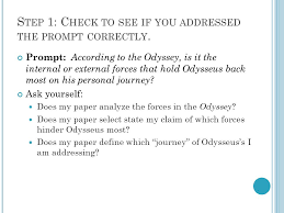r evising c hecklist for the odyssey analytical essay ppt 3 s