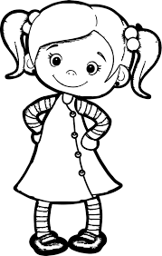 Beautiful Cute Girl Coloring Page Beautiful Cute Girl Coloring On
