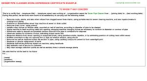 cover letter for cleaner experience sewer pipe cleaner experience letter sample entry level hotel housekeeper resume samples team leader cover letter sample