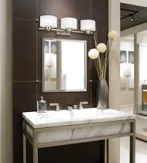 above brushed nickel mirror home flush mount recessed rated makeup ceiling lowe best light fixture top led bathroom lights ron modern depot fixtures menards