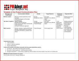 Projectommunication Plan Template Internal Example Action Doc