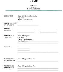 Professional Resume Samples Pdf New Fill In The Blank Resume Best