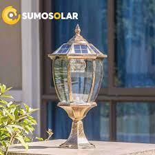 Đèn Trụ cổng sân vườn năng lượng mặt trời cổ điển - TC11