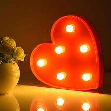Kids Red Night Light Us 3 9 20 Off Cute Heart Shape Led Night Light Home Bedroom Baby Kids Room Sweet Decoration Lamp 6 Led Red Heart Shape Light In Led Night Lights