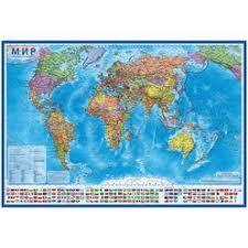 """40747 <b>Карта</b> """"<b>Мир</b>"""" <b>политическая DMB</b>, 1:15млн.,1990*1340мм ..."""