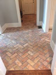 thin brick walls brick floor tile