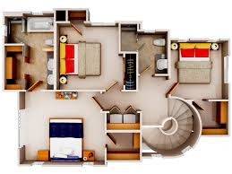 3d floor plan6 small house plans pinterest smallest house