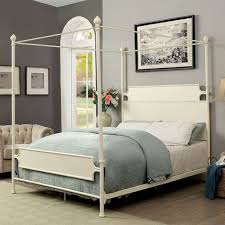 Madison Park California King Size Canopy Bed White
