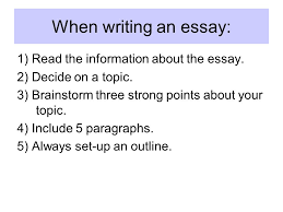 paragraph essay outline format body paragraphs