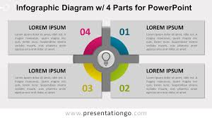 Infographic Diagram With 4 Parts For Powerpoint
