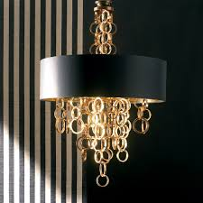 modern italian black and gold chandelier