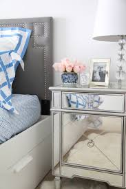 ... Best Mirrored Nightstand Ideas Mirror Furniture Blue And White Bedding Cheap  Dresser Large Size ...