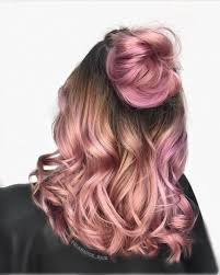 rose gold ombre half up rose gold ombre hairstyle for prom