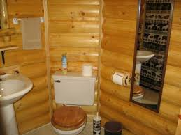 faux log cabin interior walls using knotty pine wood toward wooden toilet seats between white ceramic brilliant log wood bedroom