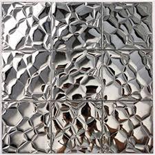 mosaic tile designs. Metallic Mosaic Tile Silver Stainless Steel Patterns Kitchen Backsplash Wall Brick Tiles Metal Mirror Mosaics Designs -