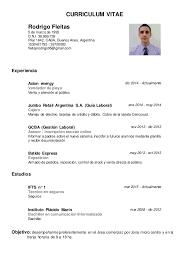 Ejemplo De Curriculum Vitae Moderno Para Descargar En Word