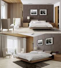 Bedroom:Charming Hanging Bedroom Design With Dark Wood Floating Bed And  Stone Wall Decor Idea