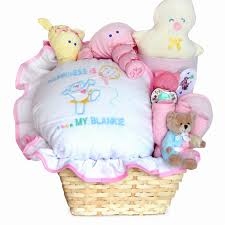 baby gift basket filled with happiness for newborn baby