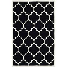 gorgeous ideas for black and white rug