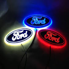 cool ford logos. aliexpresscom buy free shipping 14556 cm 4d ford focus rear lights led emblem blue red white lighted from reliable led emu2026 cool logos