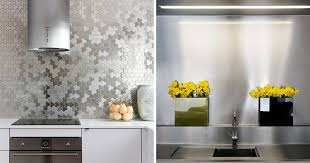Install Backsplash Awesome Kitchen Design Idea Install A Stainless Steel Backsplash For A