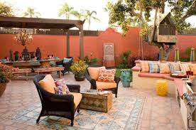 Colorful Moroccan outdoor living eclectic-patio